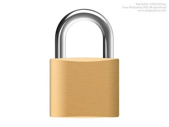 Photoshop padlock icon