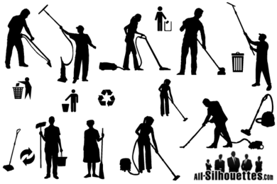 Free Vector Cleaner Silhouettes