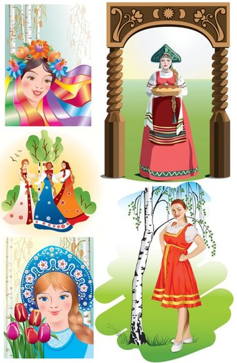 Russian National Vector material girl