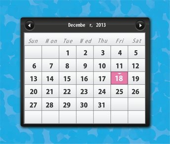 Free Vector Calender 2013