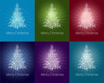 Colorful Abstract Christmas Tree
