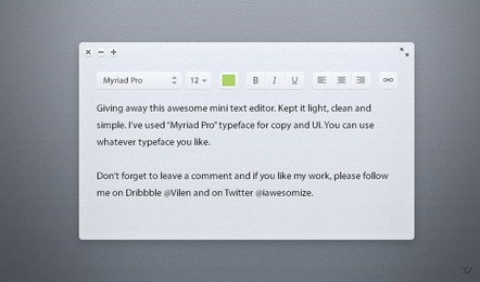 Light Text Editor