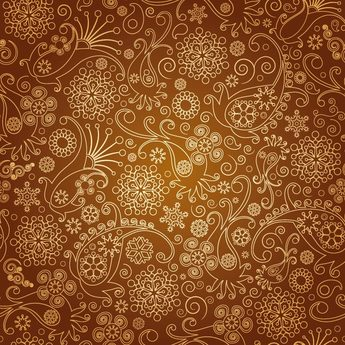 Brown Floral Background Pattern