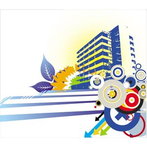 Abstract Urban City Design Vector Art