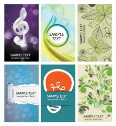 Free business card collection vector set