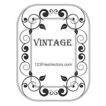 VINTAGE FRAME WITH ORNAMENT.eps