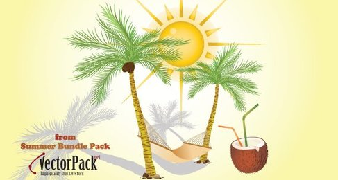 Vectror Pack of Summer Elements