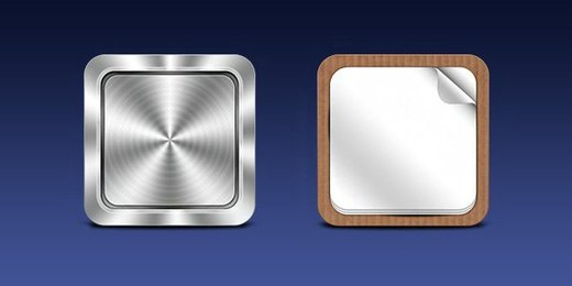 Mobile App icon templates (PSD)
