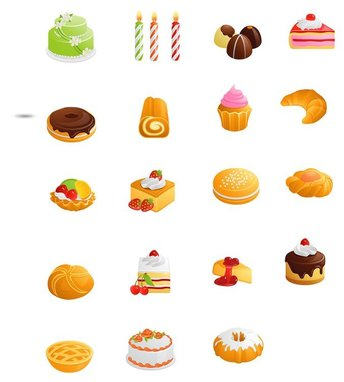 Sweets, cakes and candies