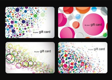 Modern Gift Card Templates Vector Set