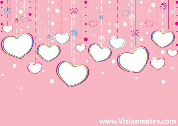 Valentine Hearts Background