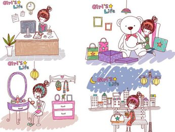 Girl's life, Vector EPS Girl's Life4