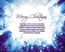 Glittering blue lights background with text