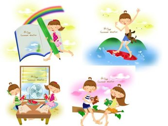 Children's summer Vector 1