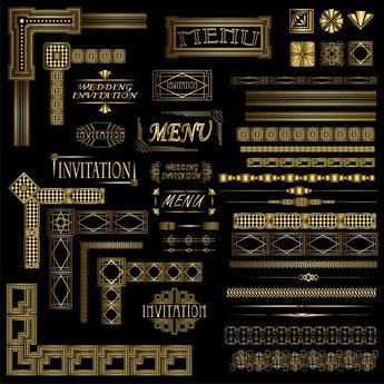 Gorgeous Gold Lace Vector 2 Classical