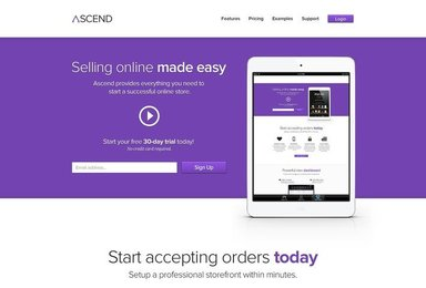 Ascend Free ECommerce Service PSD Template