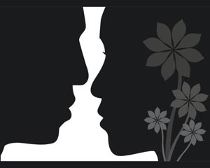 lovers face to face vector free file | Download now!