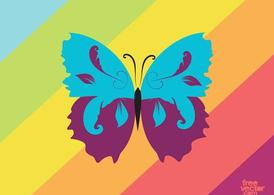Colorful Vector Butterfly