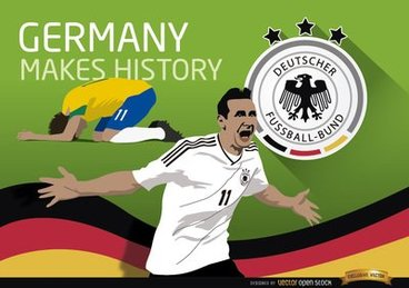 Germany triumphs over Brazil makes history