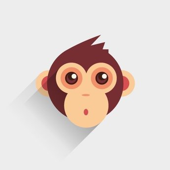 BABY MONKEY VECTOR IMAGE.eps