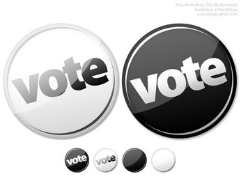 Photoshop empty and vote buttons