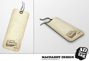 3D Luggage Tag Vector Free