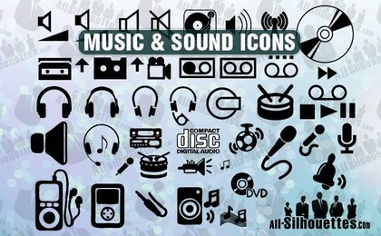 45 Music and sound icons