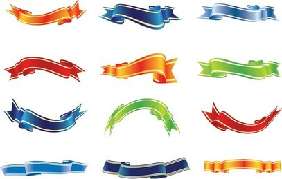 Set Of Colorful Ribbons