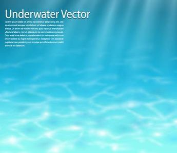 Realistic Blue Underwater Background
