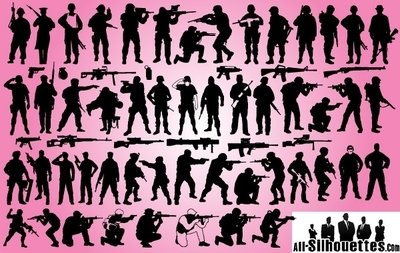Soldier & Weapon Pack Silhouette