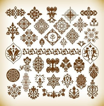Decorative Pattern Elements Vector Collection