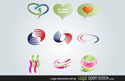 Logo Elements Free Vector Set