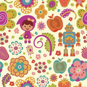 Cartoon flower pattern