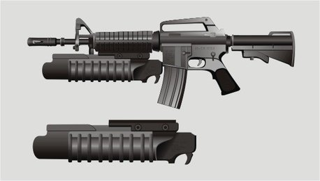 Vector M-16 rifle