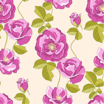 Free Flowers Vector Pattern Background