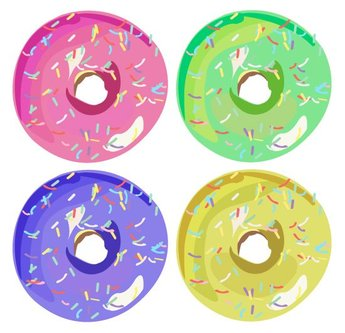 Free Vectors: Donuts with Sprinkles