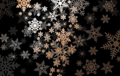 Snowflake Background with Light Shade