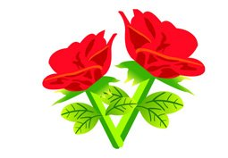 Free Vector Red rose Flowers