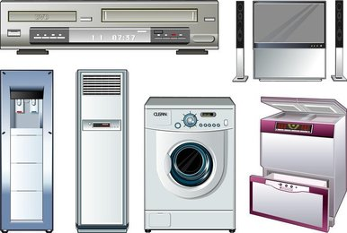Vector Of Household Appliances