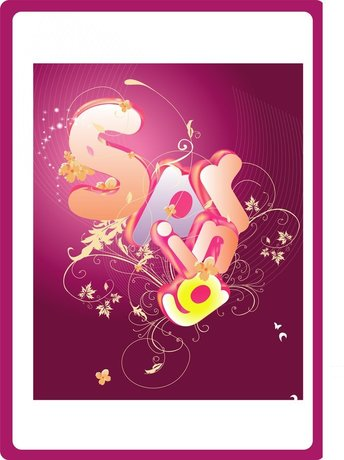 Spring Vector Typography Design Eps