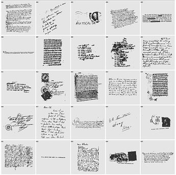 English hand-written letter with the postmark vector materia