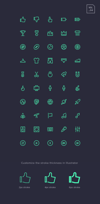 Stroke Gap Icons Set Vol.4