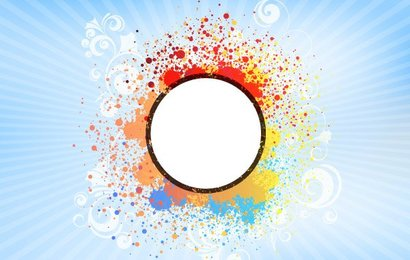 Colorful Banner Abstract Background Blank
