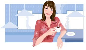Beautiful Girl with a cup of coffee 1