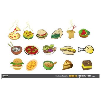 CARTOON FOODS FREE VECTOR CLIP ART.ai