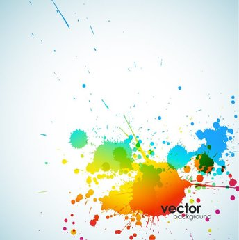Abstract Ink Splash Background