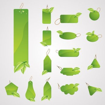 Green Leaf Labels and Price Tags (Free)