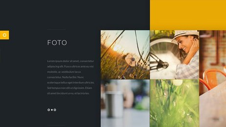 Foto - Stylish Flat PSD website Template