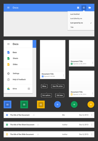 Google Docs - Android L Style -