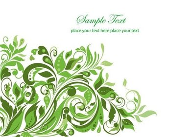 Floral Background Abstract Design Vector Graphic Art
